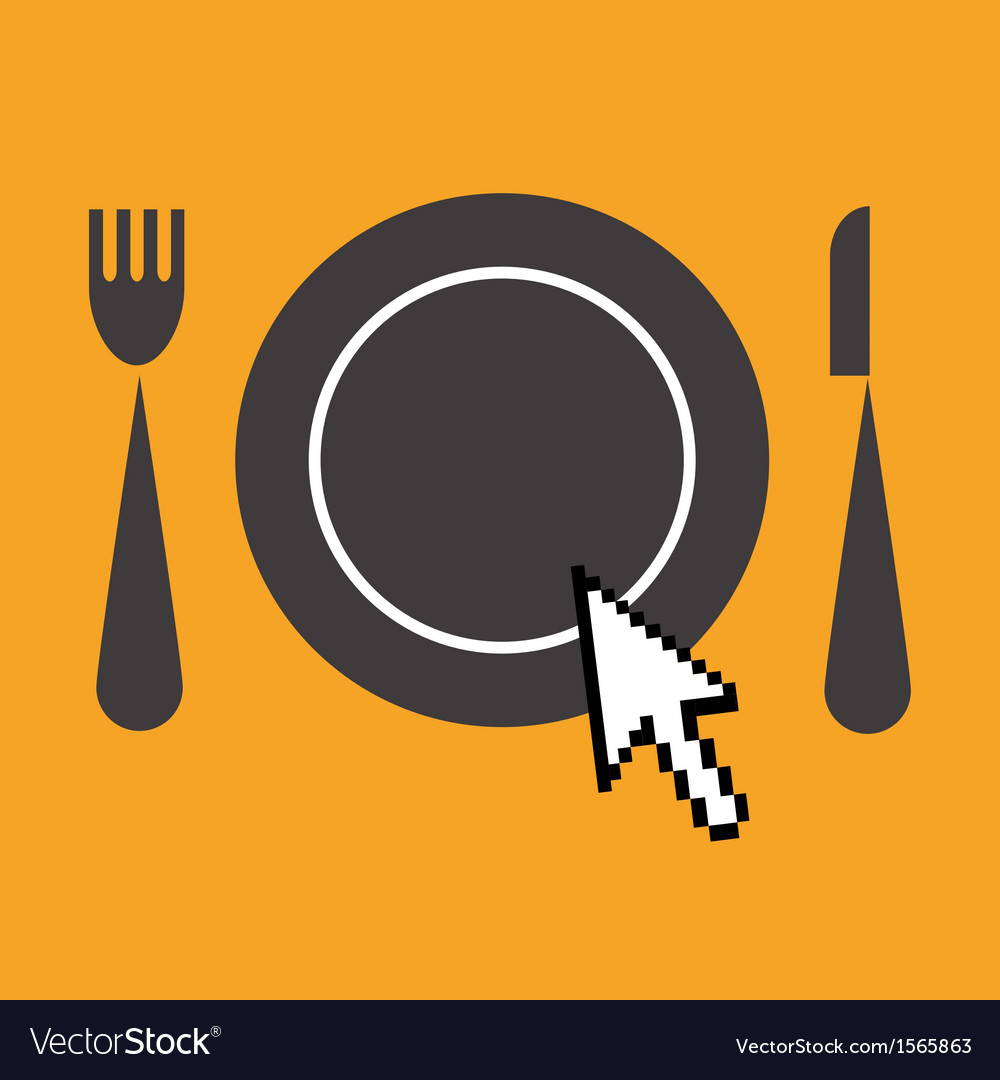Icon of advertisement for restaurants web vector | Price: 1 Credit (USD $1)