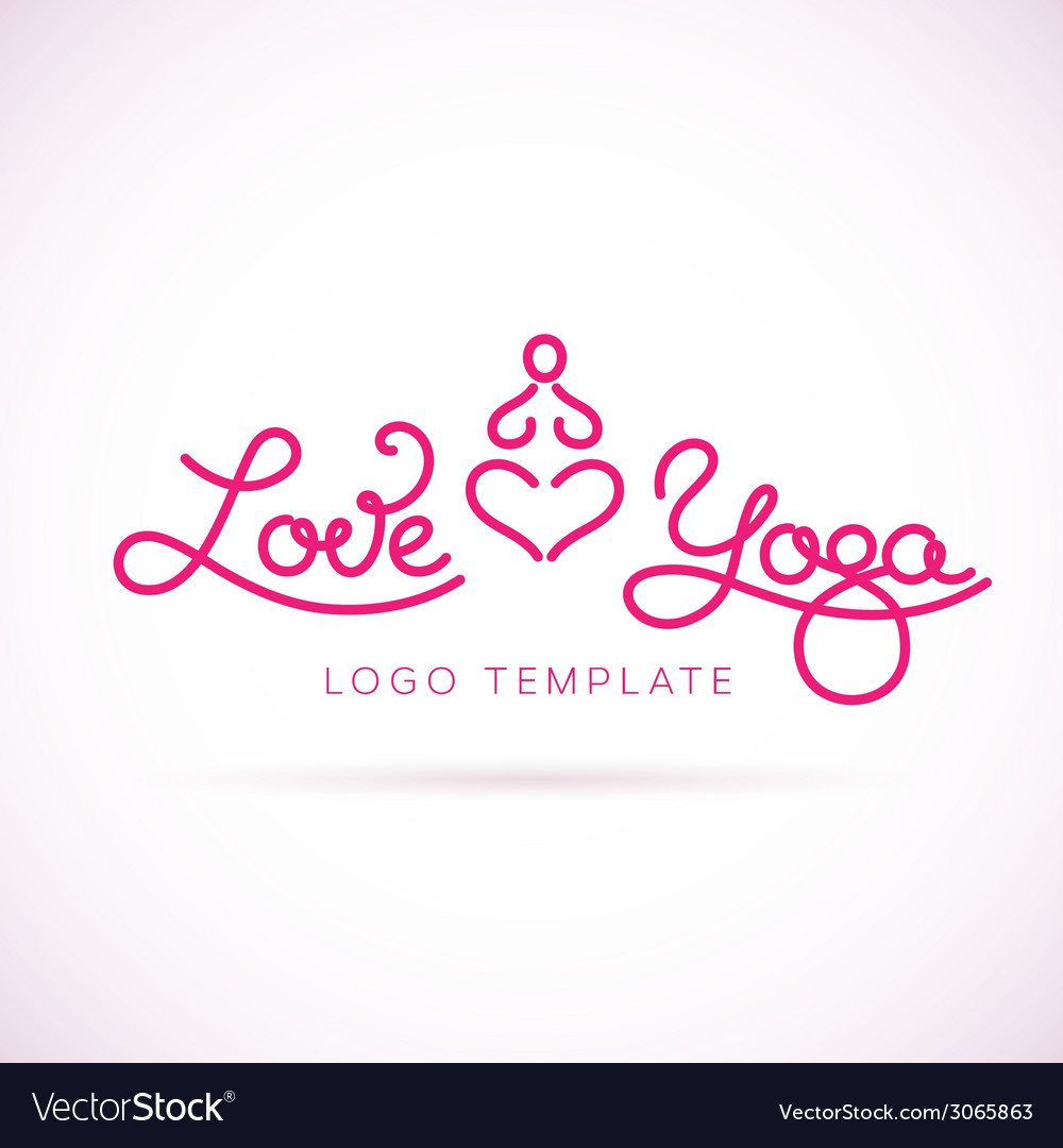 Love yoga abstract logo template vector | Price: 1 Credit (USD $1)