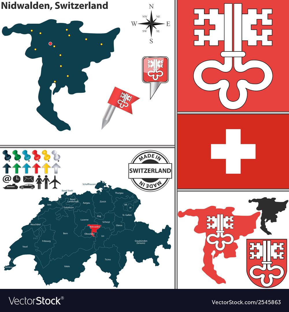 Map of nidwalden vector | Price: 1 Credit (USD $1)
