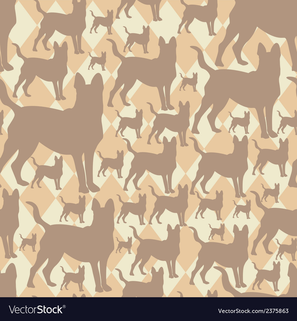Pattern with dogs seamless texture vector | Price: 1 Credit (USD $1)