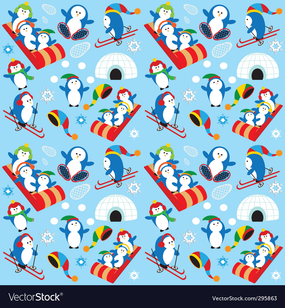 Penguin wallpaper vector | Price: 3 Credit (USD $3)