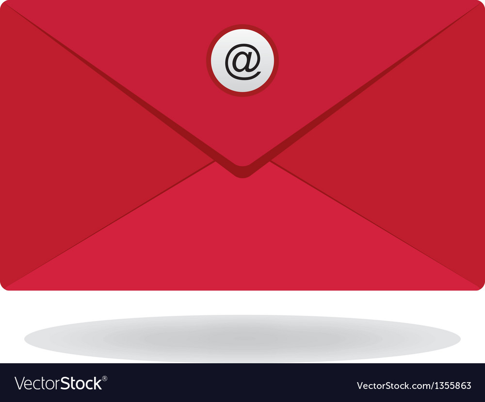 Red email envelope vector | Price: 1 Credit (USD $1)