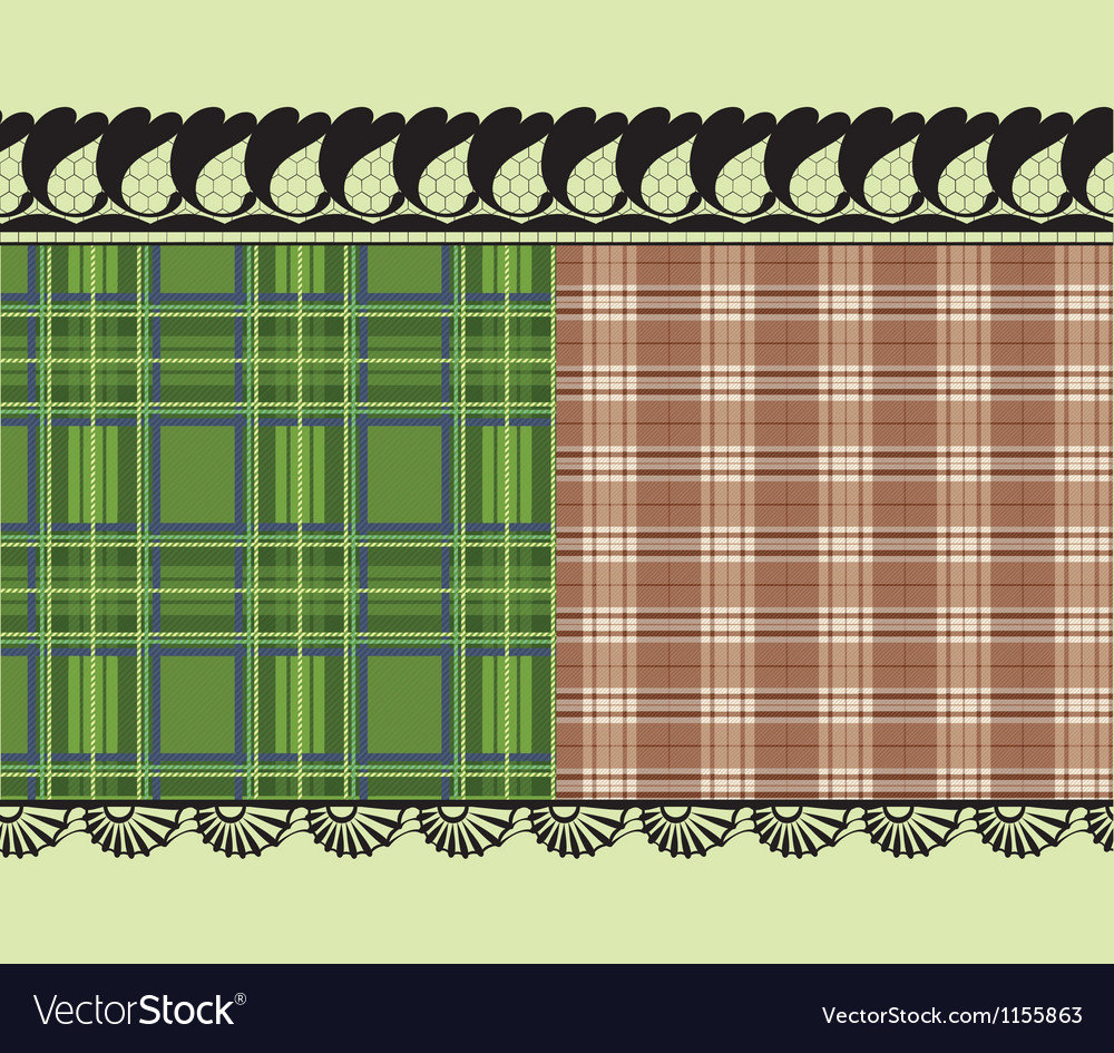 Scottish fabric delicate embroidery vector | Price: 1 Credit (USD $1)