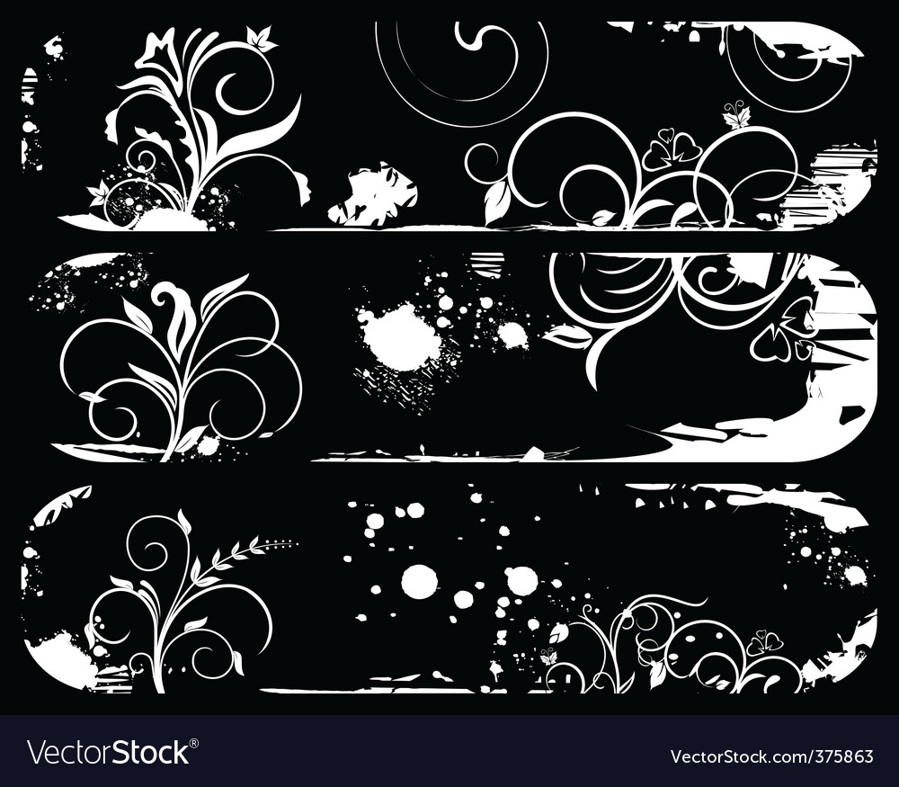 Set abstract grunge banners vector | Price: 1 Credit (USD $1)