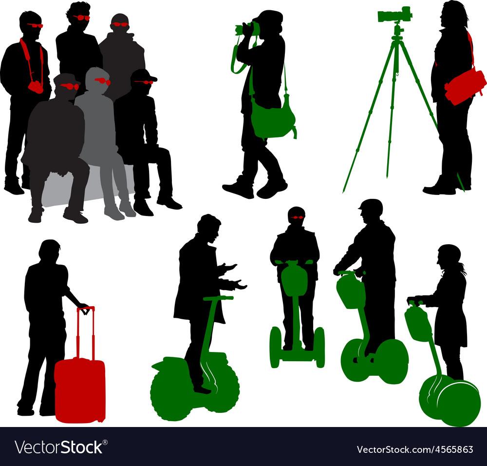 Tourist 6 vector