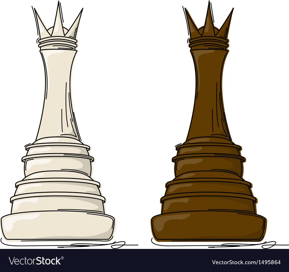 Chess queen vector | Price: 1 Credit (USD $1)