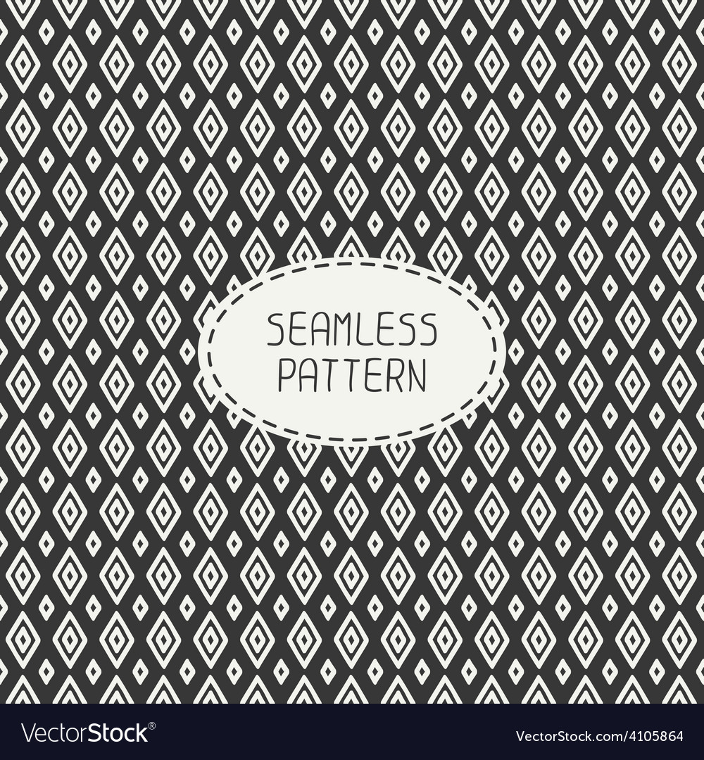 Geometric line seamless pattern with rhombus vector | Price: 1 Credit (USD $1)