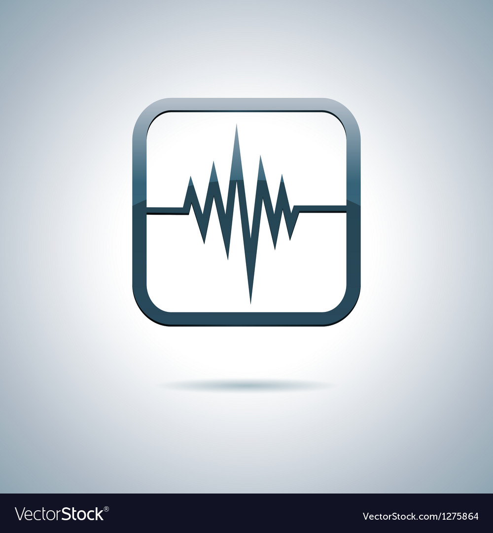 Heart and health icon vector | Price: 1 Credit (USD $1)