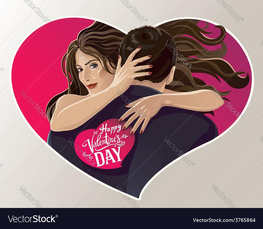 Hugging pair vector | Price: 3 Credit (USD $3)