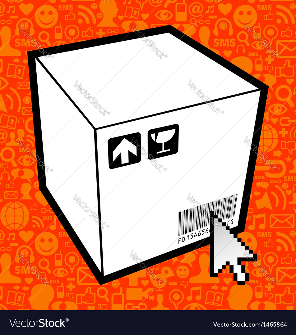Logistic box icon vector   Price: 1 Credit (USD $1)