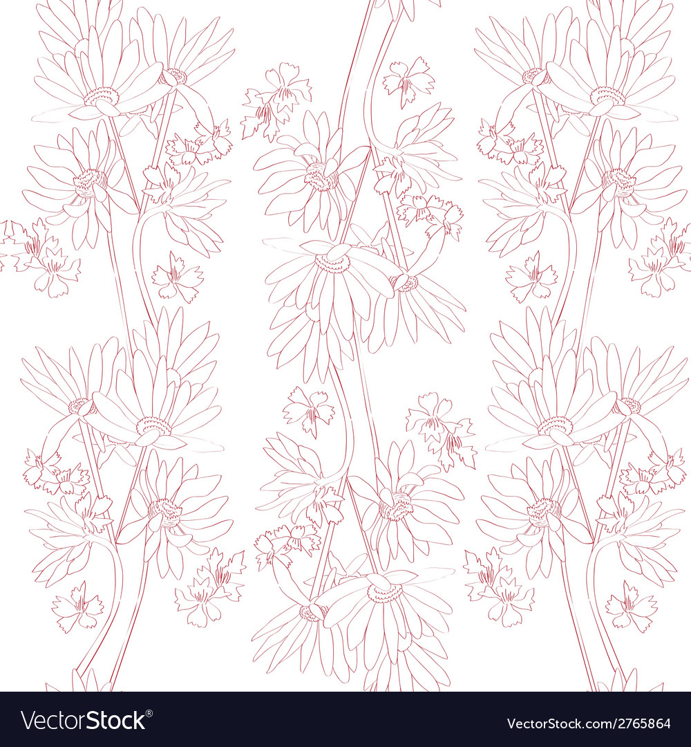 Pink orchids pattern vector | Price: 1 Credit (USD $1)