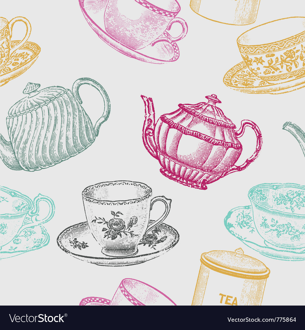 Tea time vector | Price: 1 Credit (USD $1)