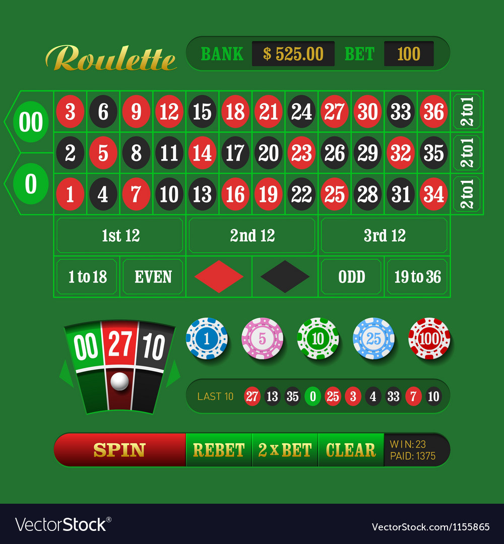 American roulette vector | Price: 1 Credit (USD $1)