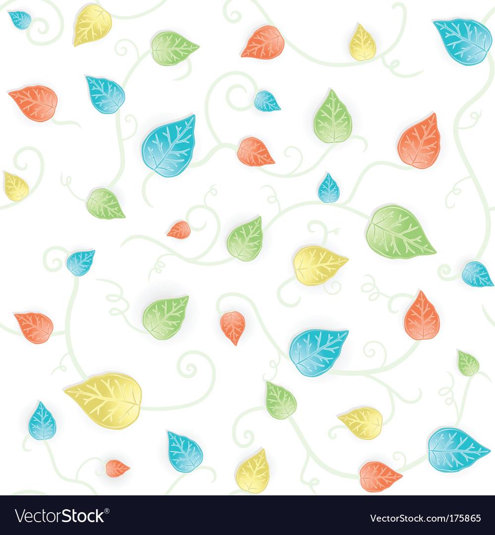 Autumn leafy seamless pattern vector | Price: 1 Credit (USD $1)