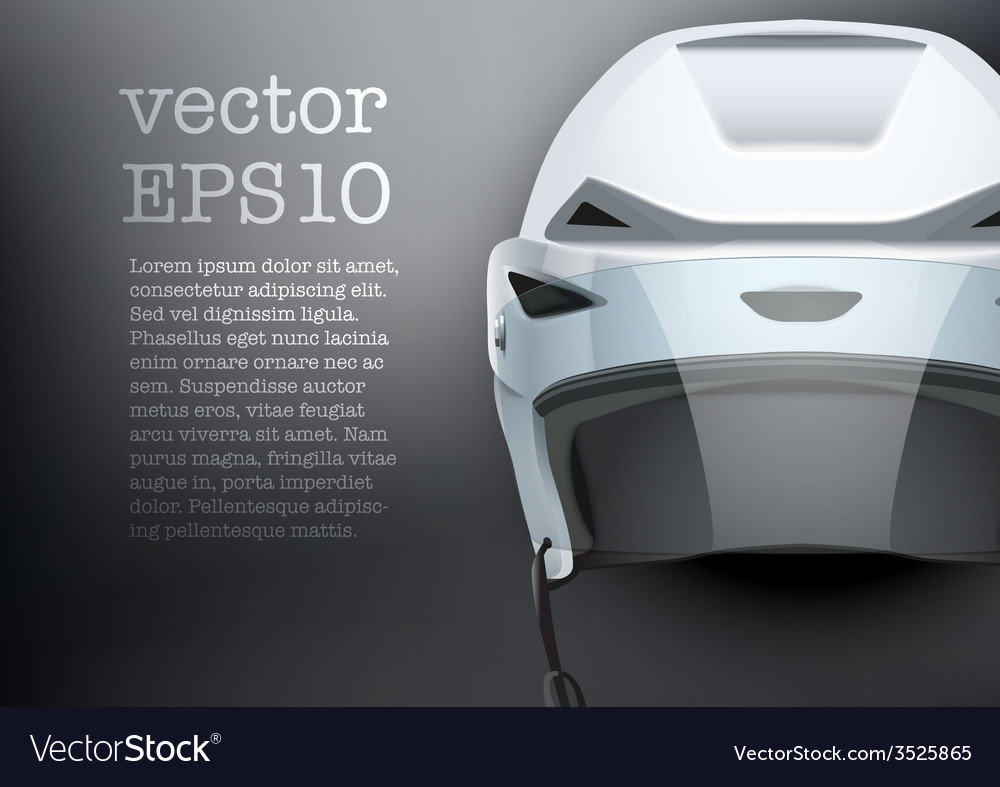 Background of classic white ice hockey helmet with vector | Price: 1 Credit (USD $1)