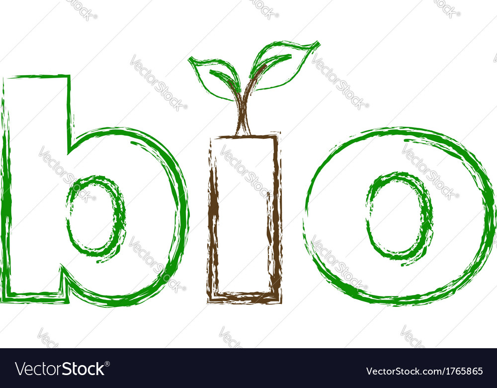 Bio logo sketched vector | Price: 1 Credit (USD $1)