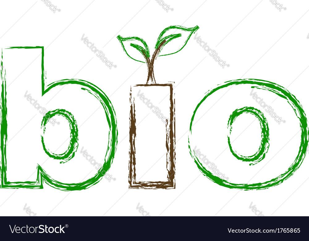 Bio logo sketched vector | Price: 1 Credit (USD $1)
