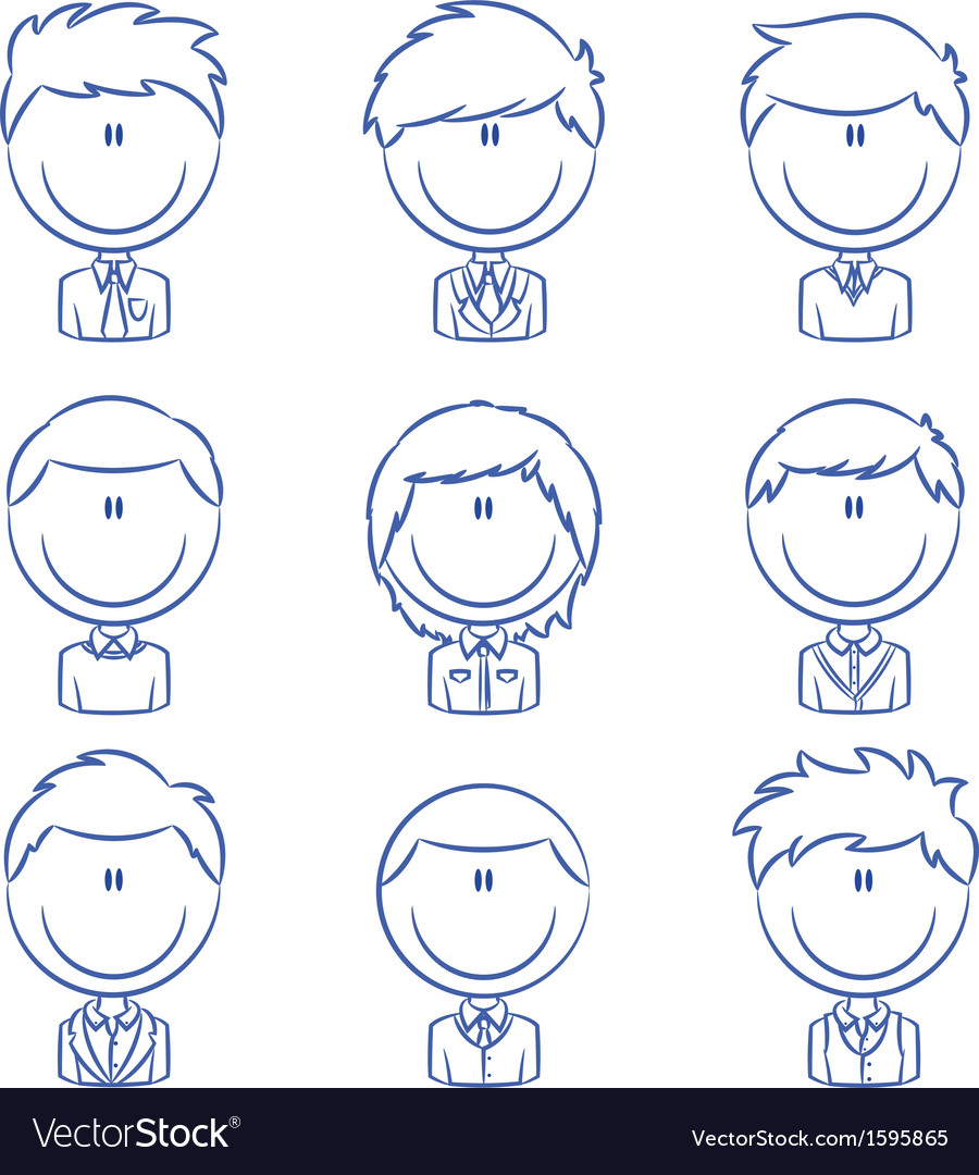 Business male avatar vector | Price: 1 Credit (USD $1)
