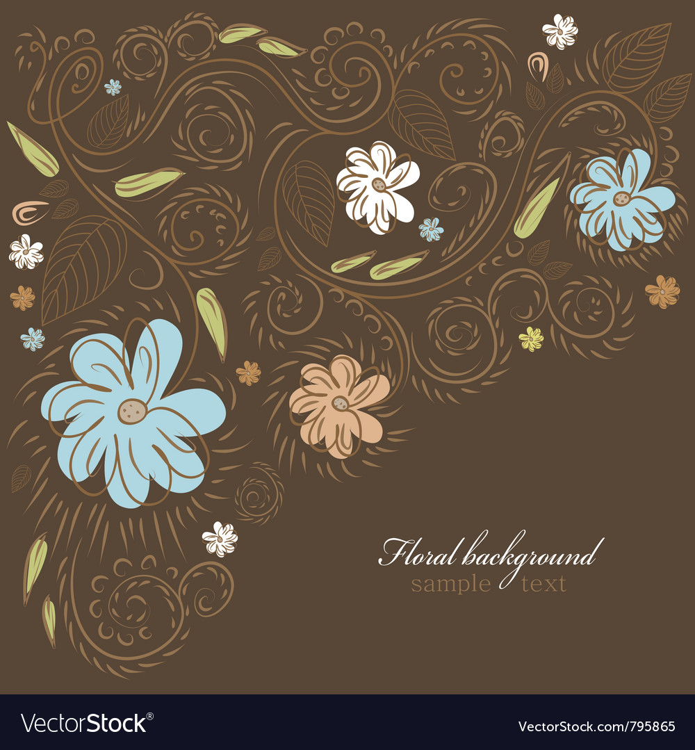 Floral ornate background vector | Price: 1 Credit (USD $1)