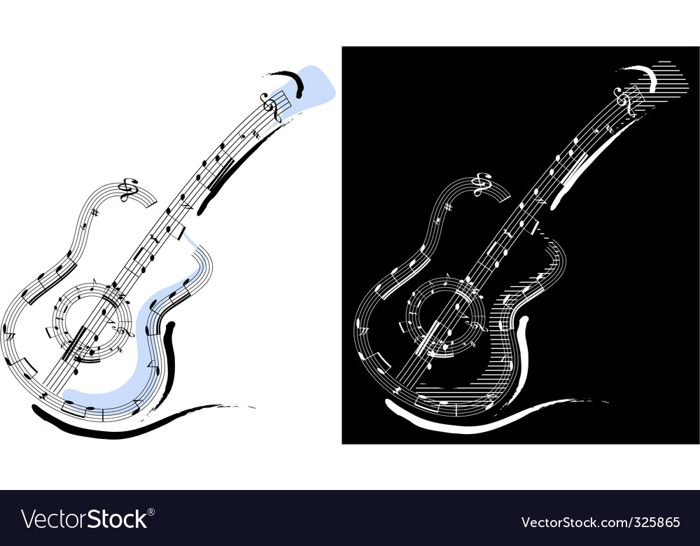 Guitar emblem vector | Price: 1 Credit (USD $1)