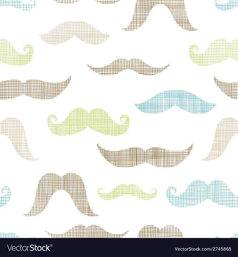 Mustaches textile textured seamless pattern vector | Price: 1 Credit (USD $1)