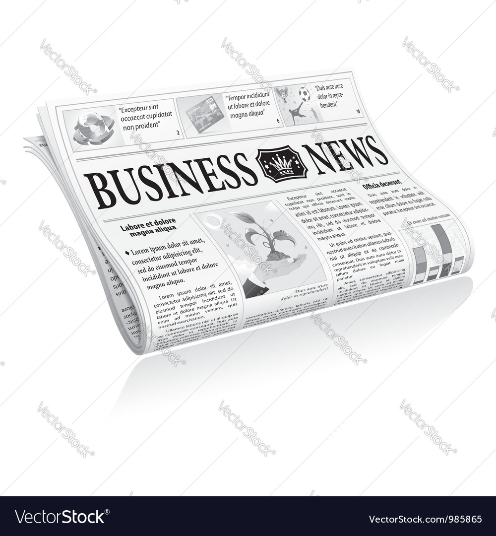 Newspaper business news vector | Price: 3 Credit (USD $3)