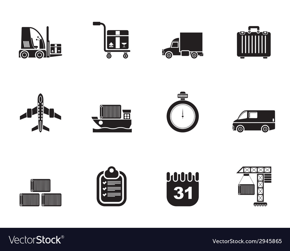 Silhouette logistics and transportation vector | Price: 1 Credit (USD $1)