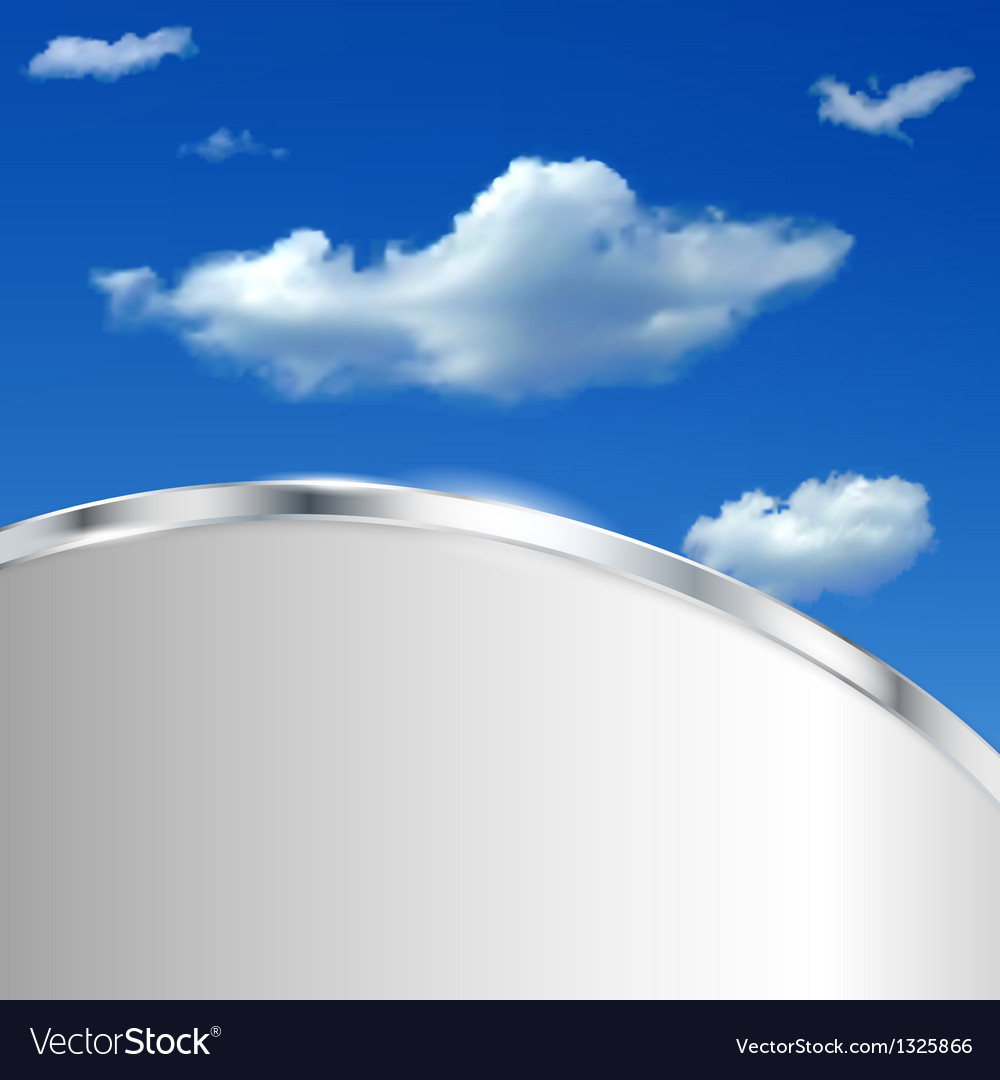 Abstract background with sky and clouds vector | Price: 1 Credit (USD $1)