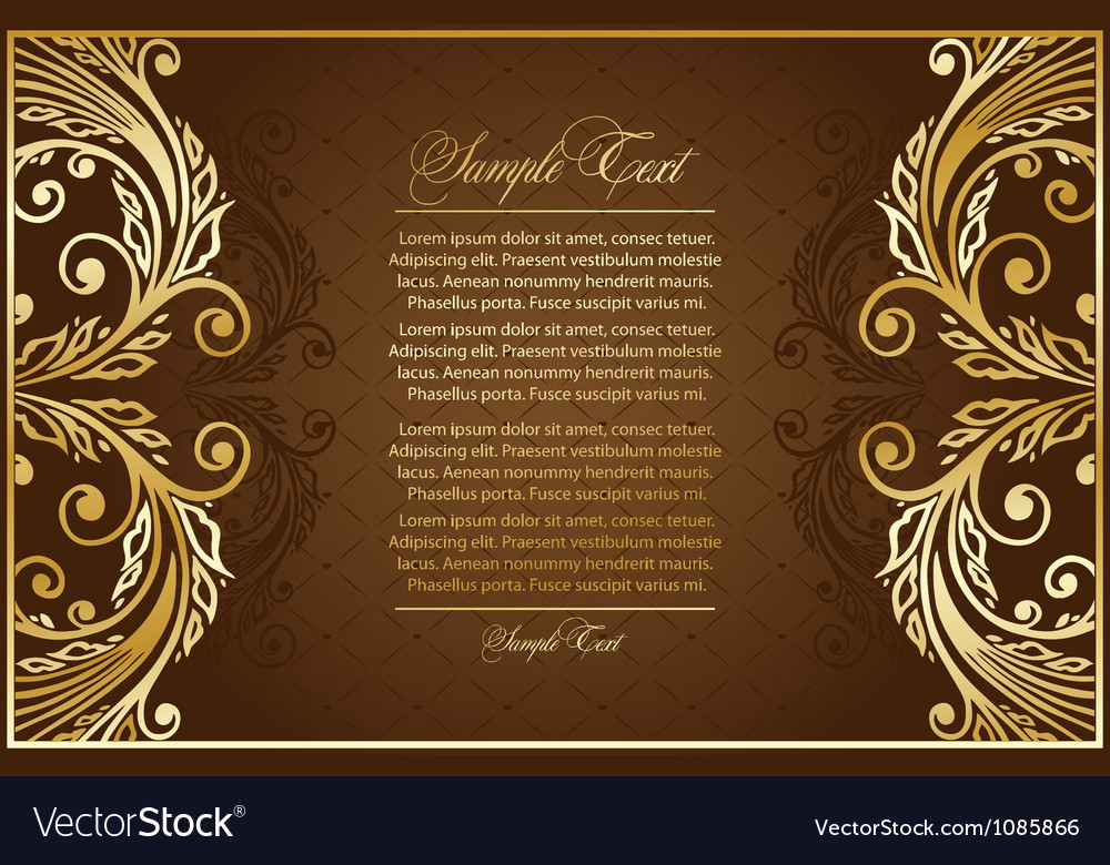 Antique brown background vector | Price: 1 Credit (USD $1)