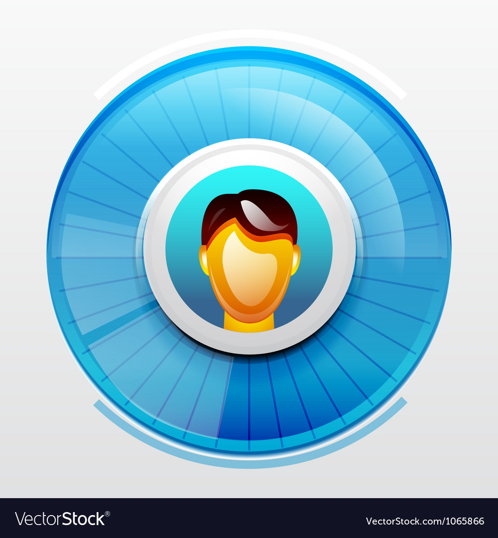 Blue user pic icon vector | Price: 1 Credit (USD $1)