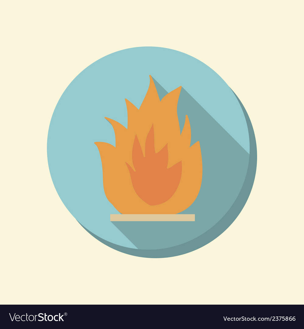 Flat web icon fire sign vector | Price: 1 Credit (USD $1)
