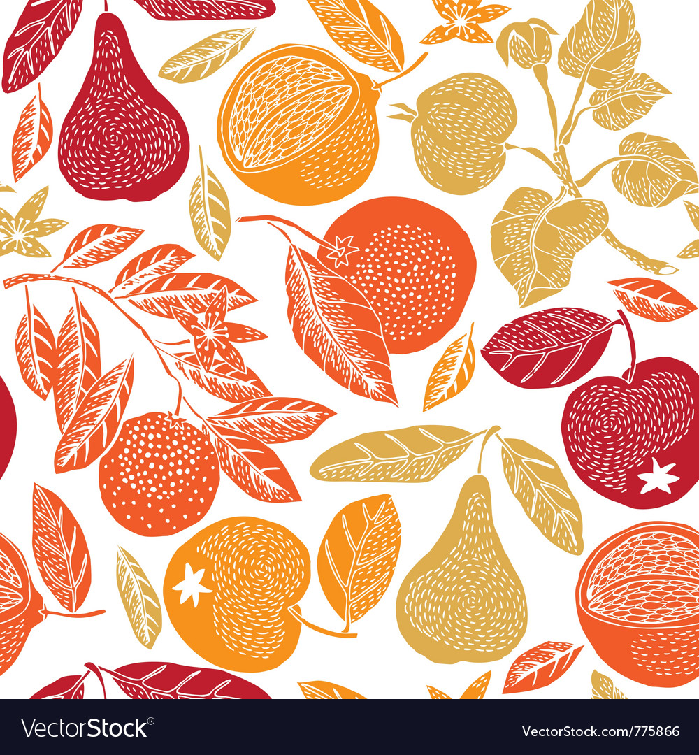 Fruit season print vector | Price: 1 Credit (USD $1)