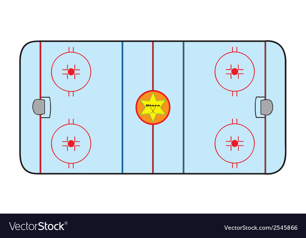 Ice hockey field vector | Price: 1 Credit (USD $1)