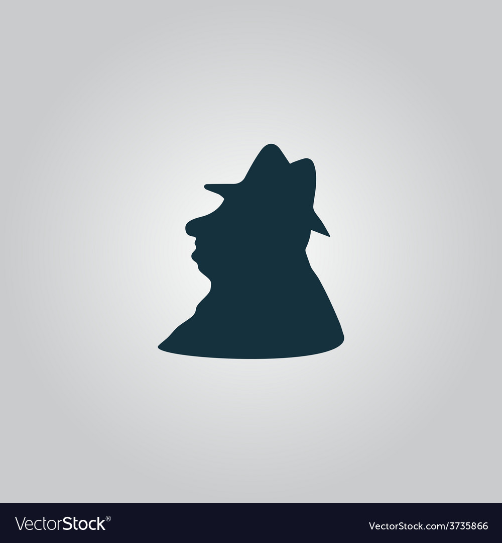 Man profile in hat icon vector | Price: 1 Credit (USD $1)