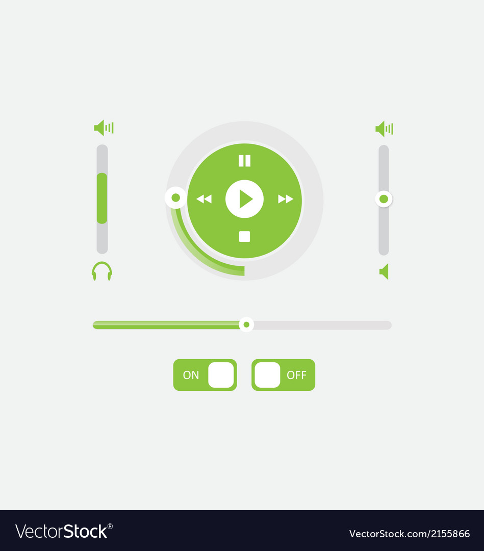 Music player control interfrace 3 vector | Price: 1 Credit (USD $1)