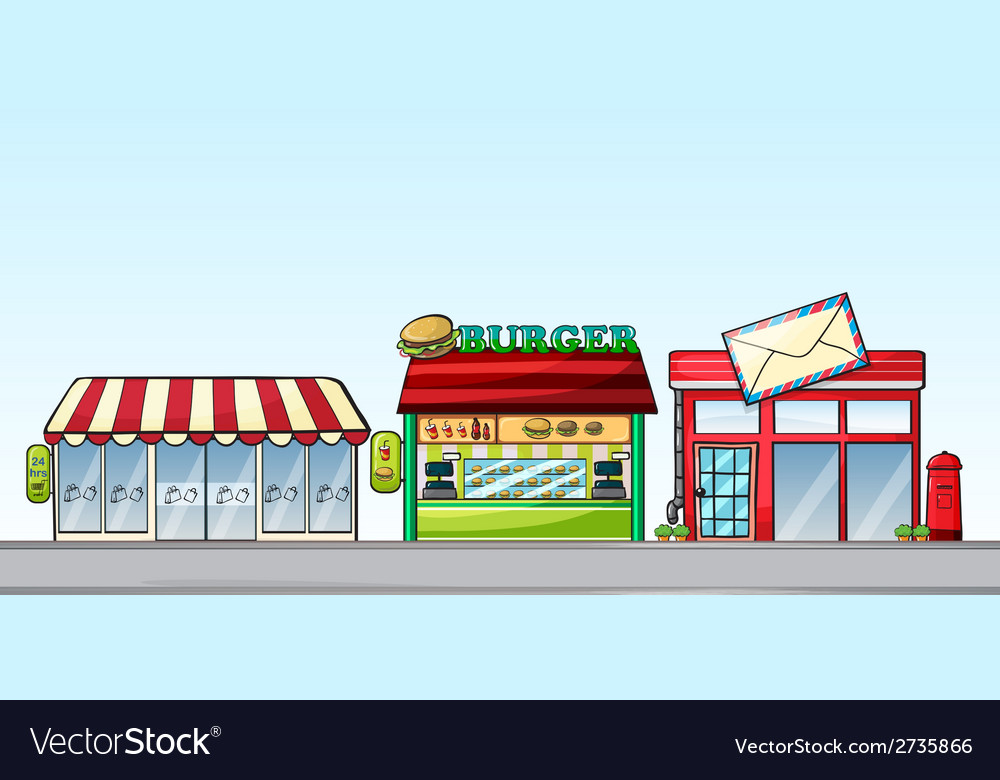 Shops vector | Price: 1 Credit (USD $1)