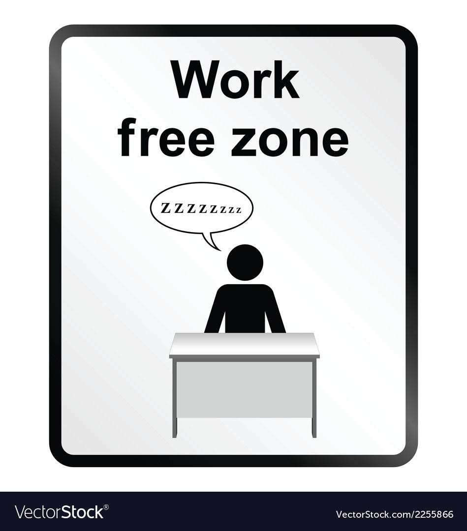 Work free zone information sign vector | Price: 1 Credit (USD $1)