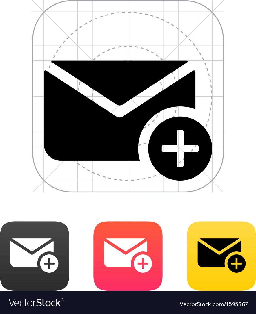 Add mail icon vector | Price: 1 Credit (USD $1)
