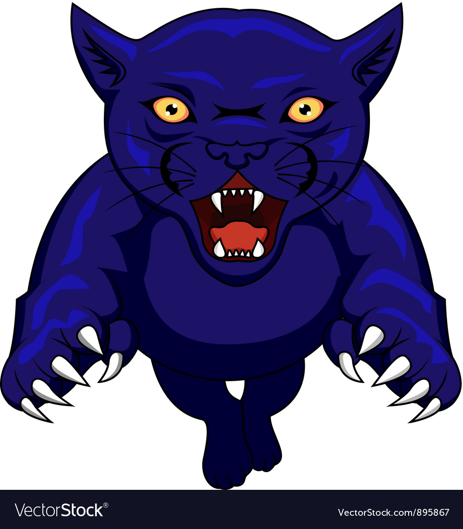 Angry panther cartoon vector | Price: 1 Credit (USD $1)