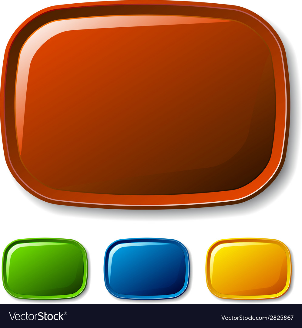 Blank rounded glossy buttons vector | Price: 1 Credit (USD $1)
