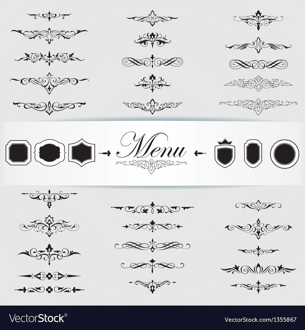 Calligraphy design elements page decoration vector | Price: 1 Credit (USD $1)