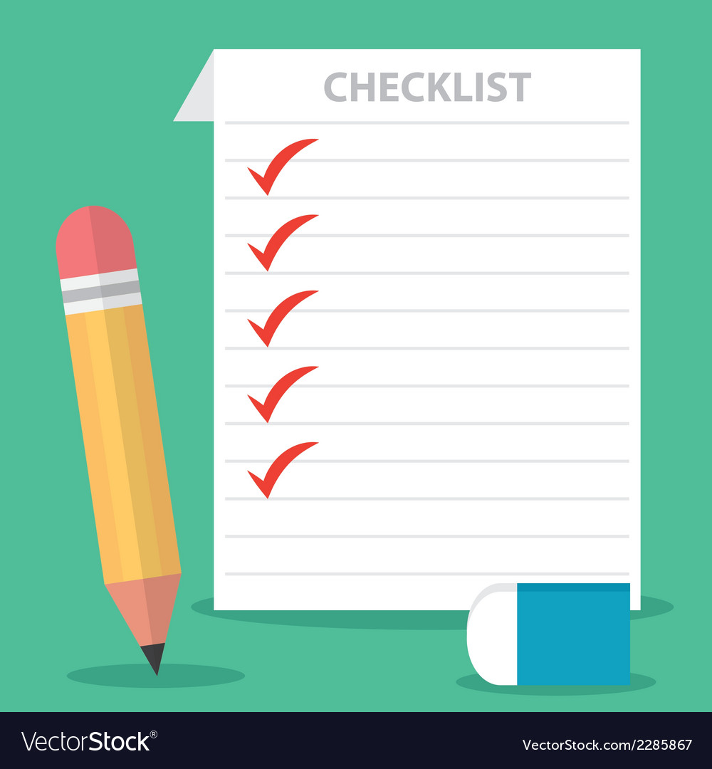 Checklist vector | Price: 1 Credit (USD $1)