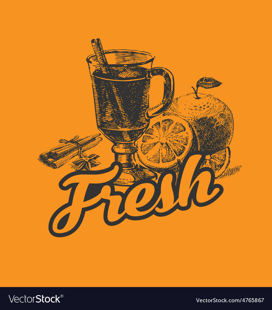 Fresh drink poster vector | Price: 1 Credit (USD $1)