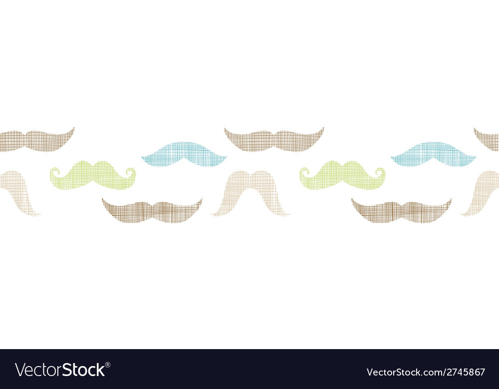 Fun silhouette mustaches horizontal border vector | Price: 1 Credit (USD $1)