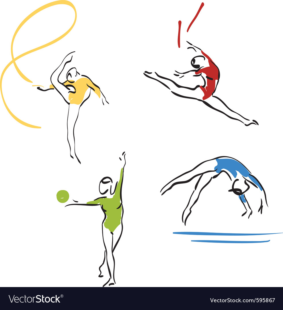 Gymnastics collection vector | Price: 3 Credit (USD $3)