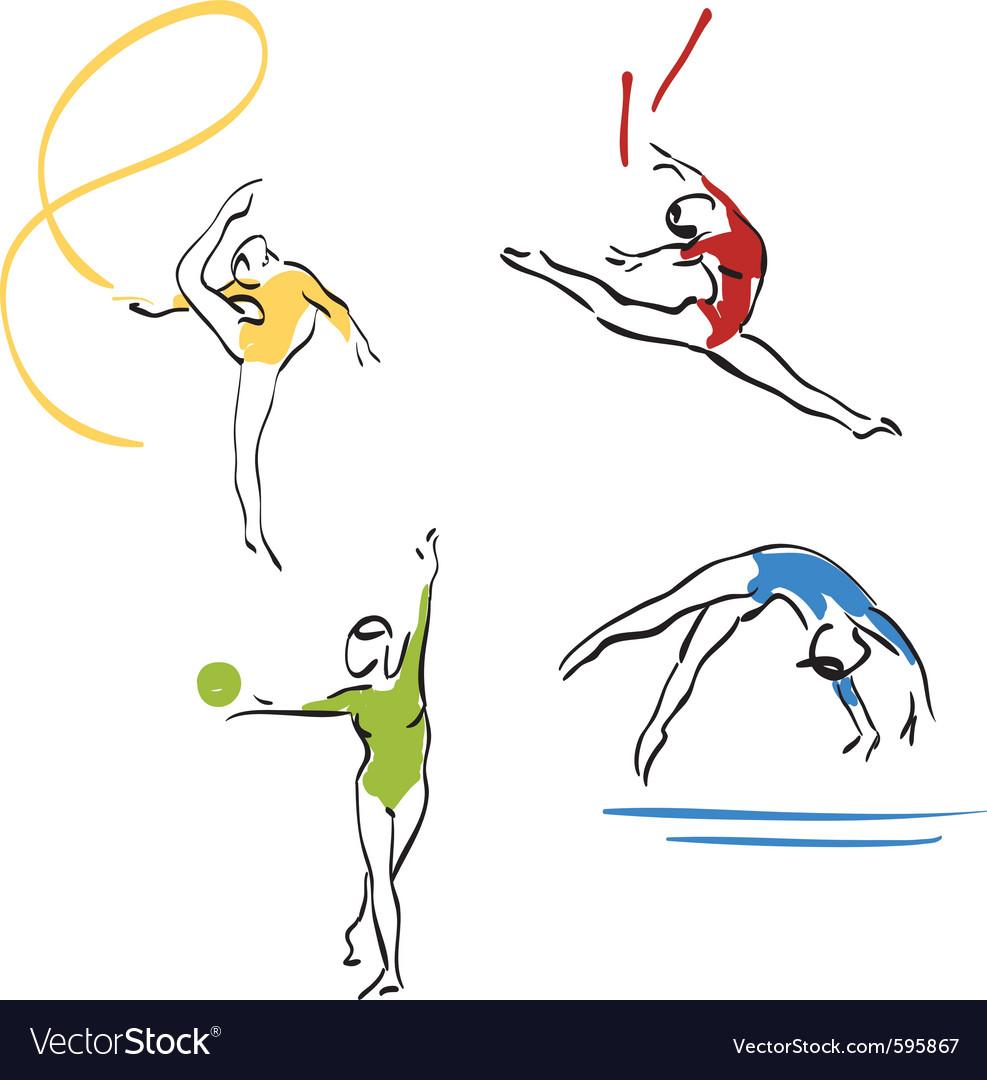 Gymnastics collection vector   Price: 3 Credit (USD $3)