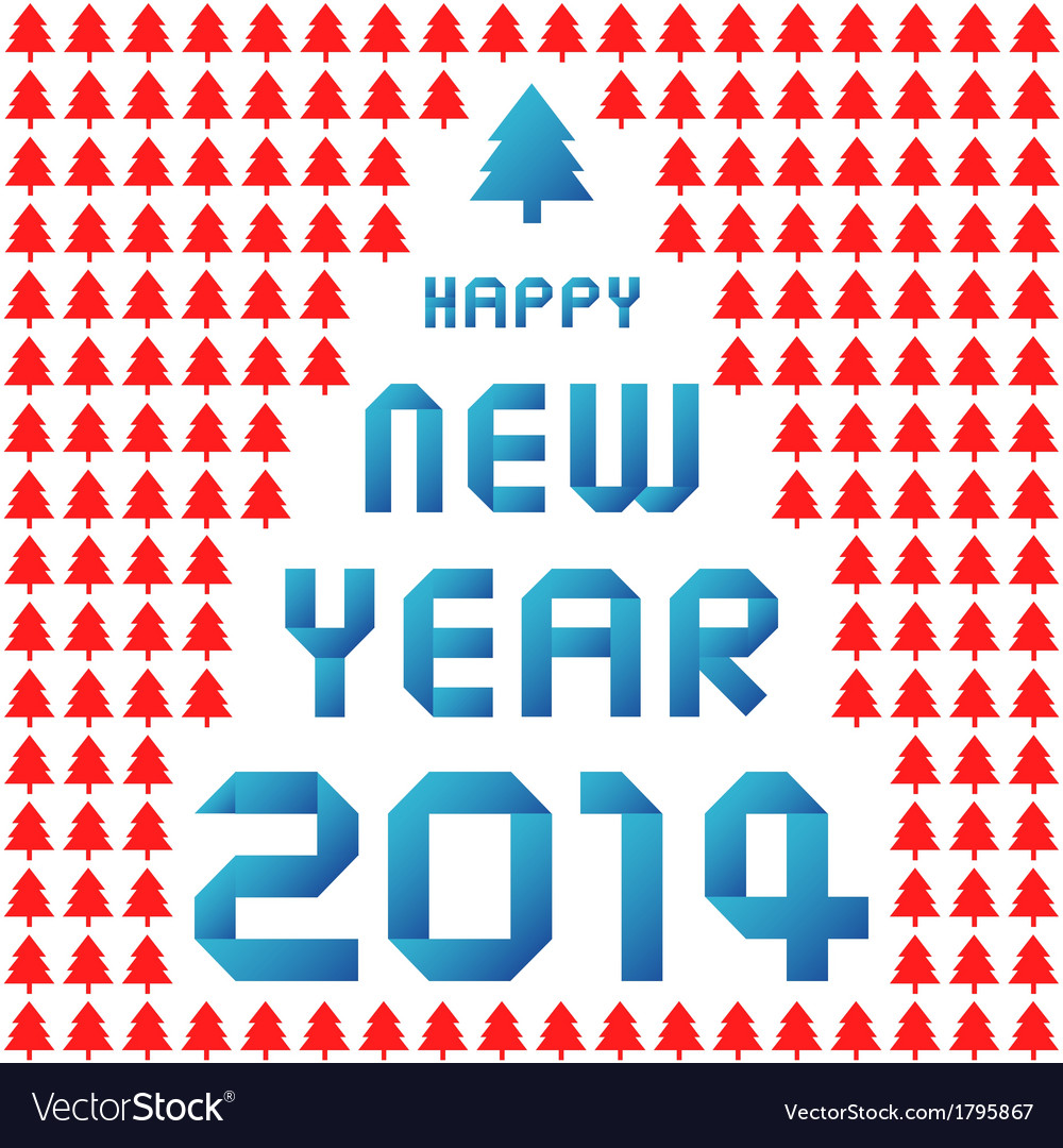 Happy new year 2014 card37 vector | Price: 1 Credit (USD $1)