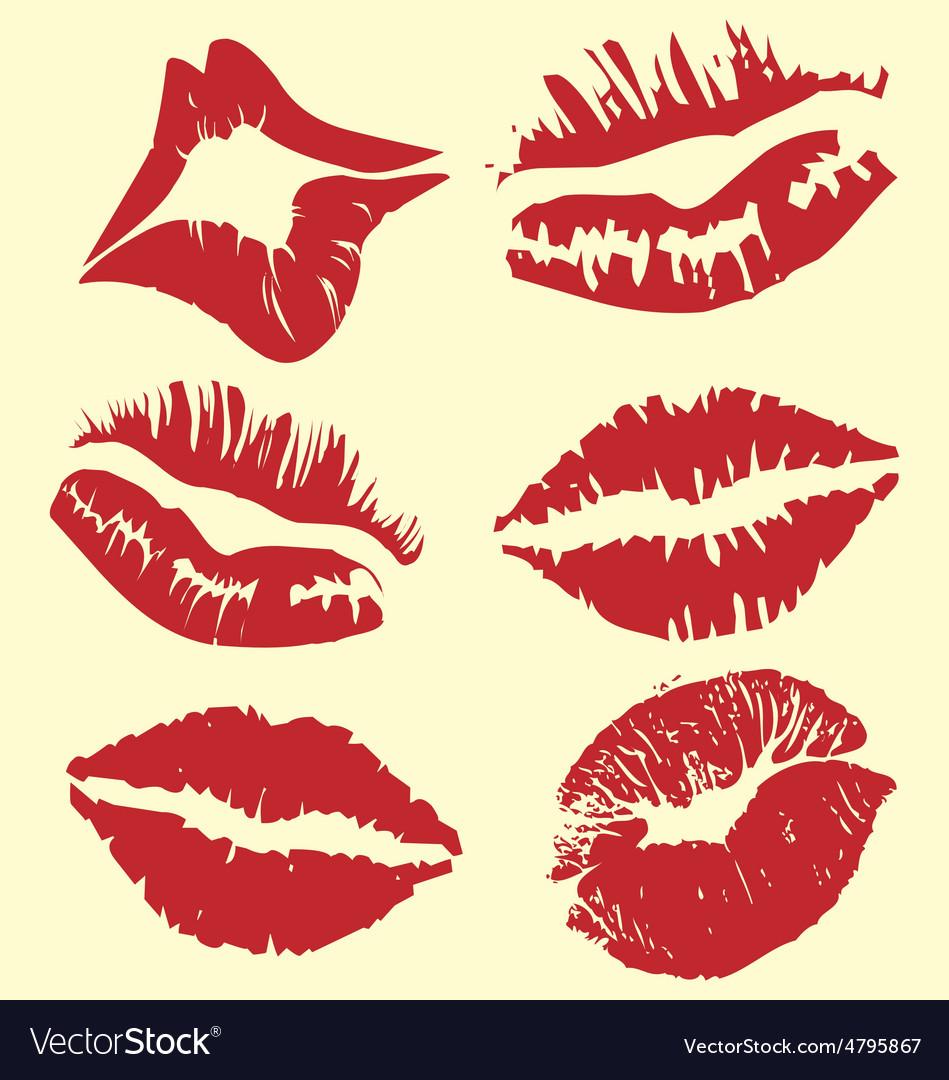 Lipstick marks vector | Price: 1 Credit (USD $1)