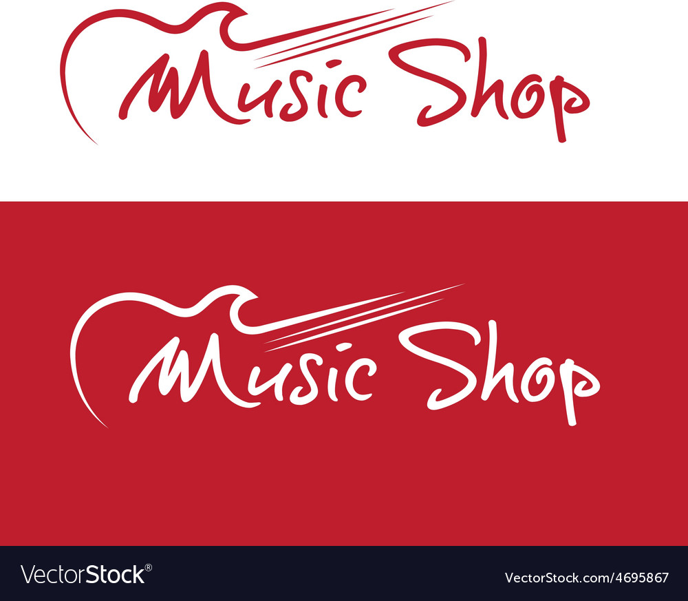 Music shop design template vector | Price: 1 Credit (USD $1)