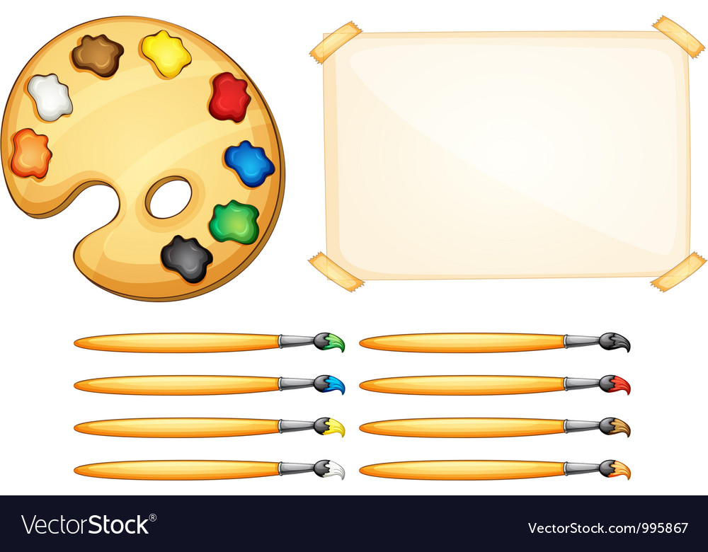 Painting equipment vector | Price: 1 Credit (USD $1)